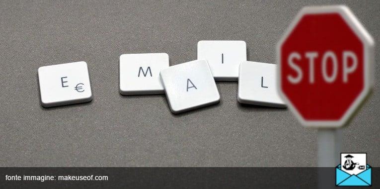 come bloccare un'email pubblicitaria